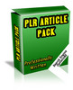 Thumbnail Vegeterian PLR Article Pack