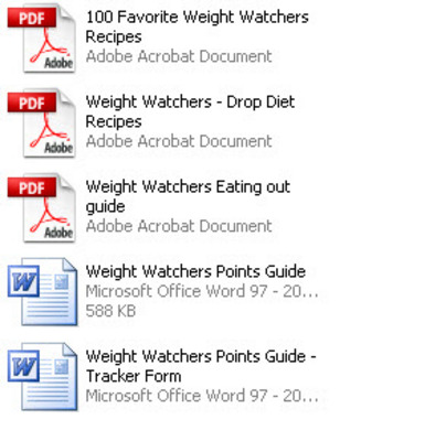 Product picture Weight Watchers Recipes and Guides