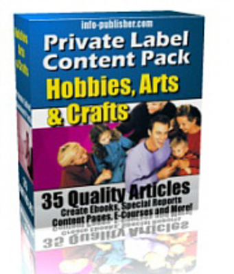 Product picture 35 Hobbies Arts and Crafts PLR Article Pack